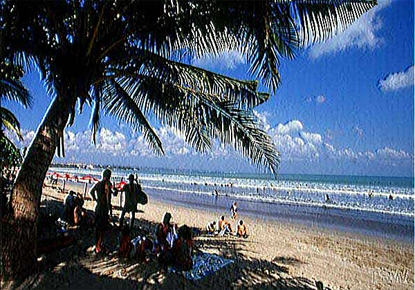 Картина маслом - пляж острова Бали