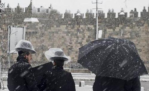 снегопад в Иерусалиме