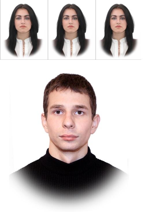 фотография с овалом - пример