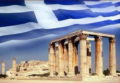 Parthenon and Greek Flag